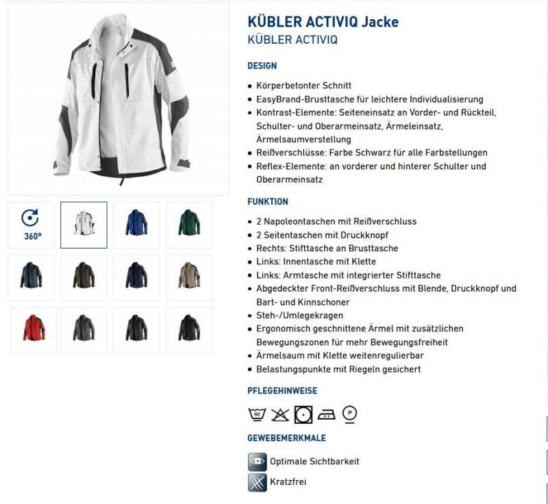 KÜBLER ACTIVIQ Jacke 1250