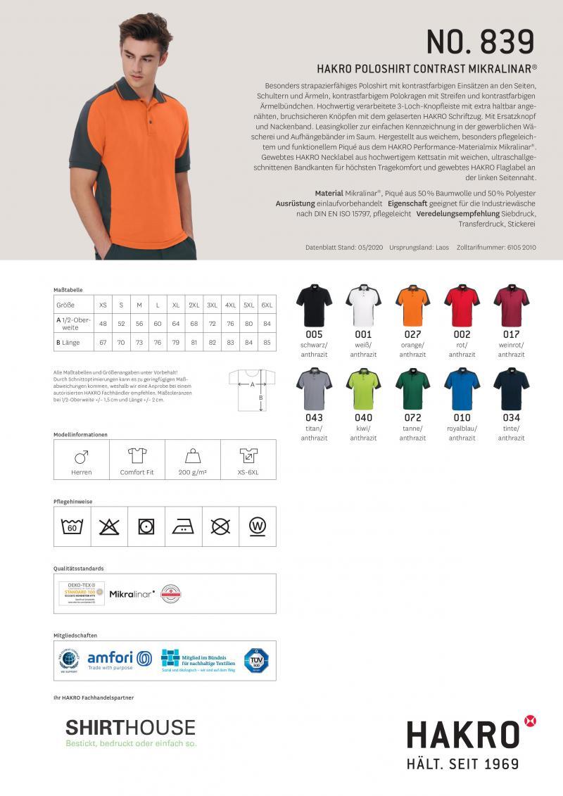 Poloshirt-Contrast Mikralinar Hakro 839